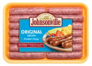 Johnsonville Sausage Links Preheat oven to 350°F. Place sausage links on a shallow baking pan. Bake for 12-15 minutes or until cooked through and browned, turning links once.