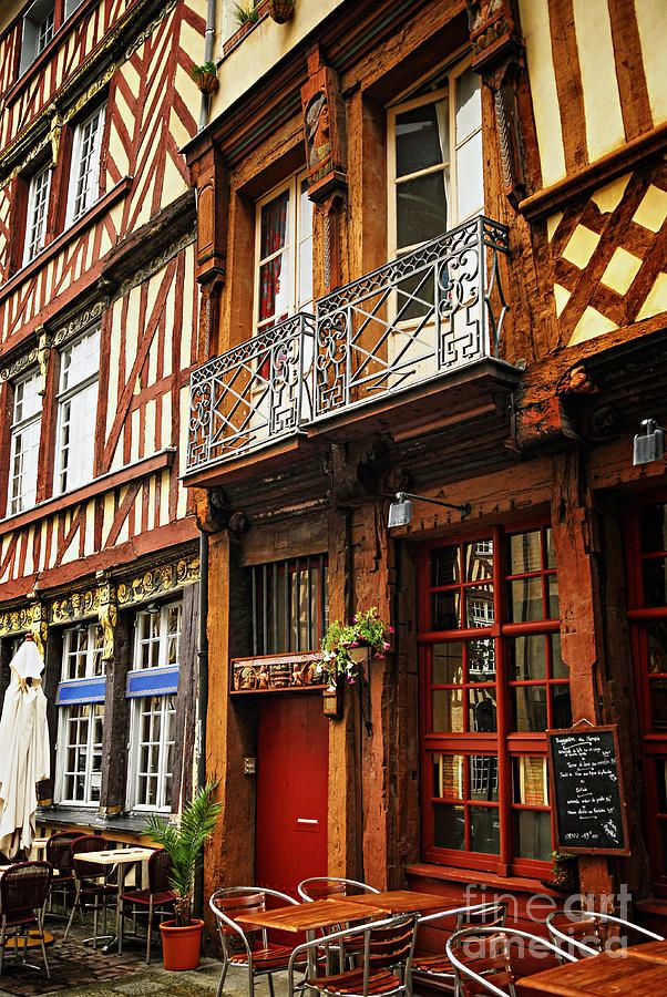 Street in Rennes, Ille-et-Vilaine, Bretagne, France