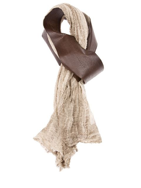 'Galeotta' bi-colour scarf