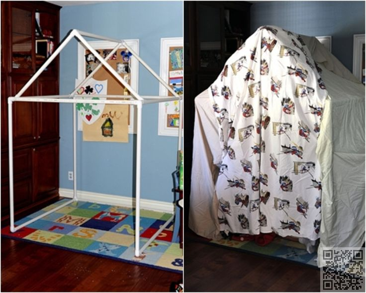 2. #Playhouse / Fort - 12 Brilliant PVC Pipe DIY #Projects ... #Chairs