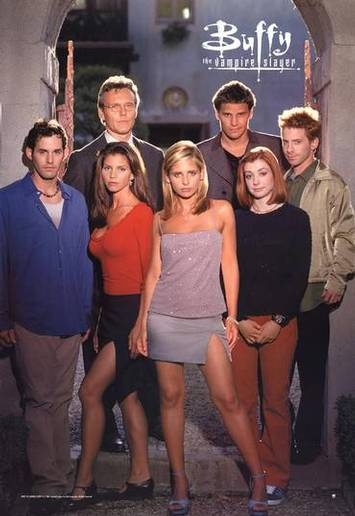 Buffy, The Vampire Slayer was the first TV show that I ever loved. I was only about 7 when I started to watch it and I've loved it ever since. Definitely one of my all time faves (even if the last few seasons were a bit meh).