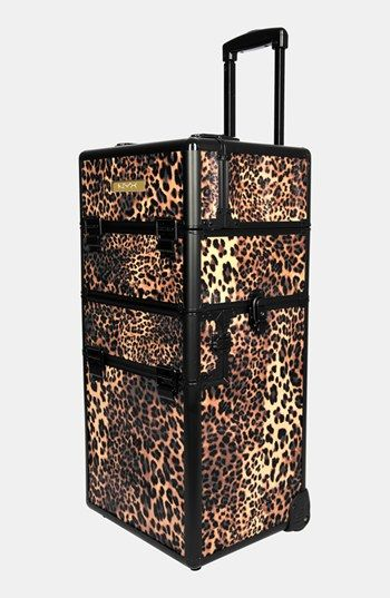 NYX Leopard Cosmetics Train Case available at #Nordstrom/  If I were a makeup artist, I'd want one of these as a backup for my MAC pro train case.