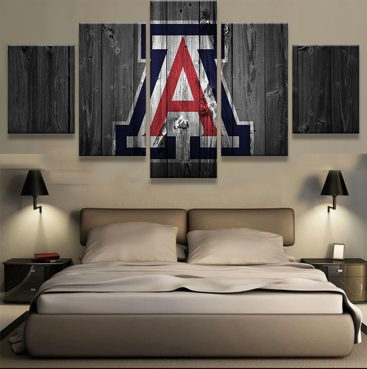 Arizona Wildcats College Barn Wood style Canvas Print (not actual barnwood)