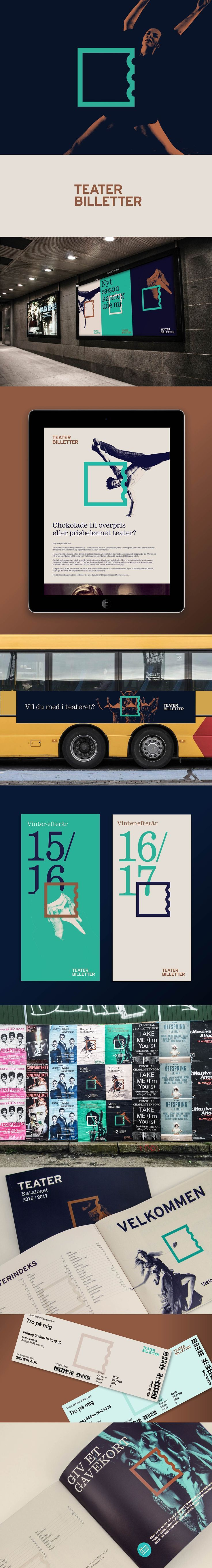 Visual identity for Teaterbilletter by IDna Group. See full case at: https://www.behance.net/gallery/37107273/Teaterbilletter