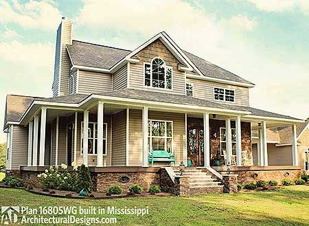 country house plans wrap around porch plan 16804wg country farmhouse with wrap around porch 26565