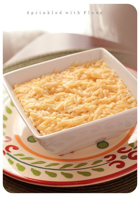 Easy Cheesy Orzo by AmberP (Sprinkled With Flour), via Flickr