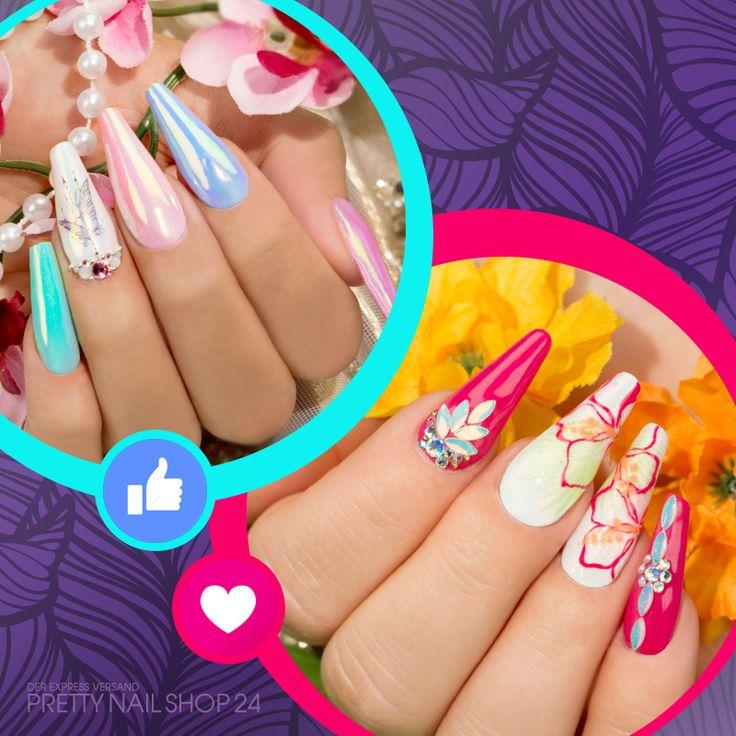 #aurora #pigment #nailart #nails Aurora vs. Pure – wie tragt Ihr Eure Nägel am liebsten?