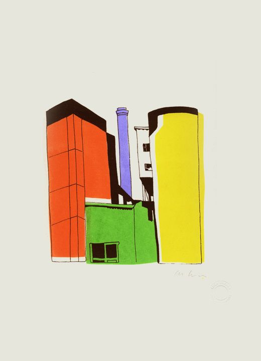 CEMENT WORKS FIG.1  Screenprint on Paper