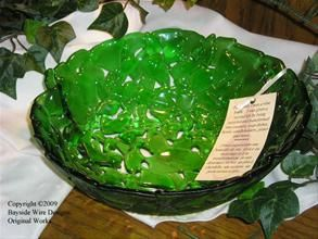 Recycled Bottle glass Bowl Made in New Brunswick from Bayside Wire Designs Handcrafted Jewelry And More...