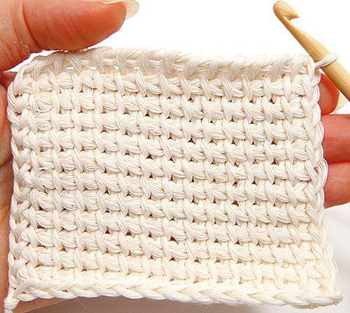 Tunisian crochet - finishing, step 2
