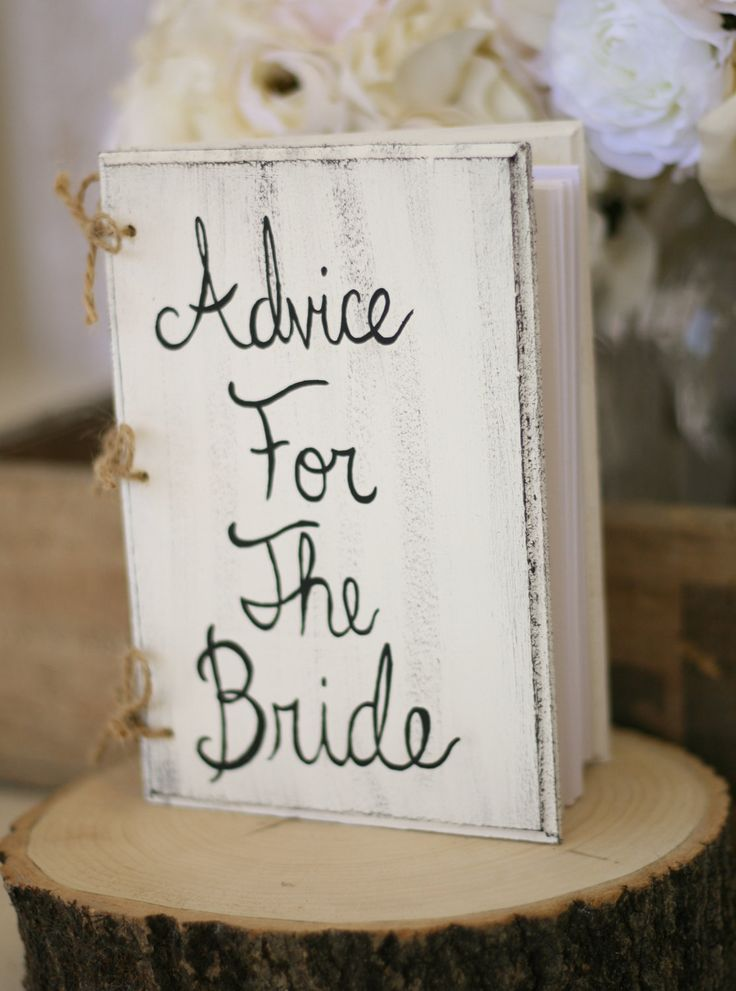Bridal Shower Guest Book Shabby Chic Wedding Decor Custom. $32.50, via Etsy.