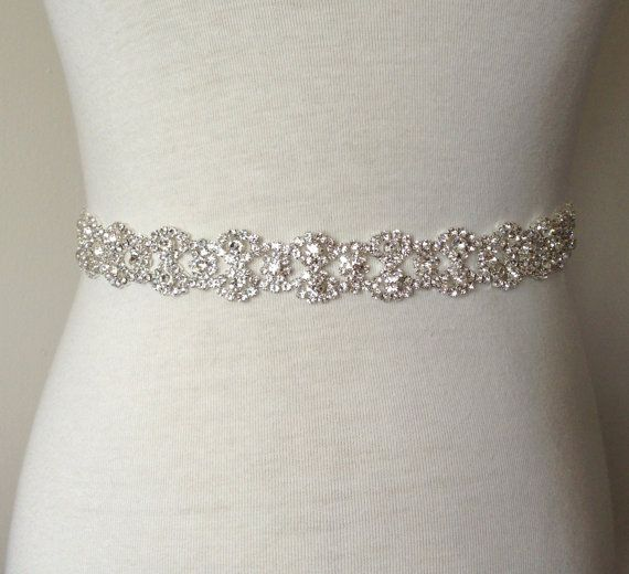 This Fancy Silver Plated Double Teardrops Rhinestone Sash Will Make A Perfect Addition To Your Wedding Gown