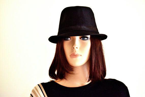 Classic Black Fedora Hat (Unisex) - Fedora Hats for Women, Sun Hats for Women, Black Fedora, Fedora Hats for men, Womens Fedora Hats  with <3 from JDzigner www.jdzigner.com