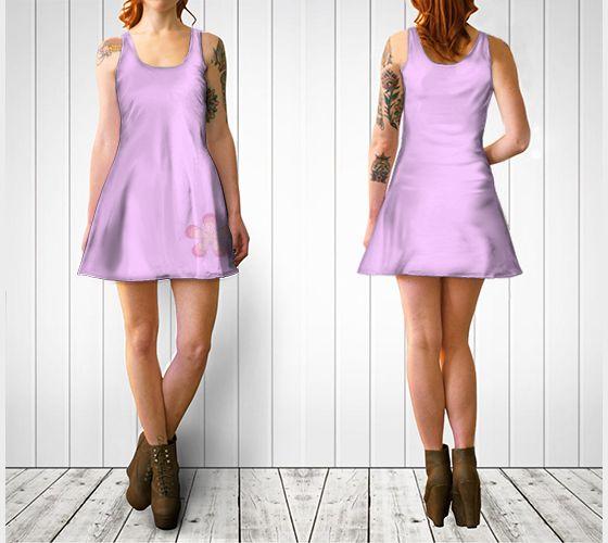 "Flare dress ""Pink Retro Flower Flare Dress"" by Cori-Beth's Originals at Art of Where."