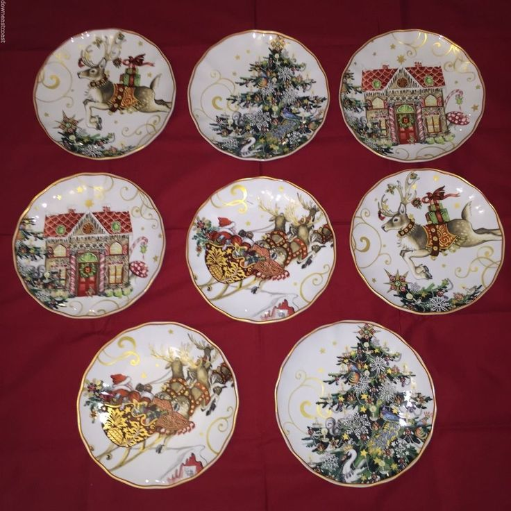 8 NEW Williams Sonoma TWAS u0027twas the Night Before CHRISTMAS Salad Plates 2/each & 73 best Twas the night before Christmas dinnerware set images on ...