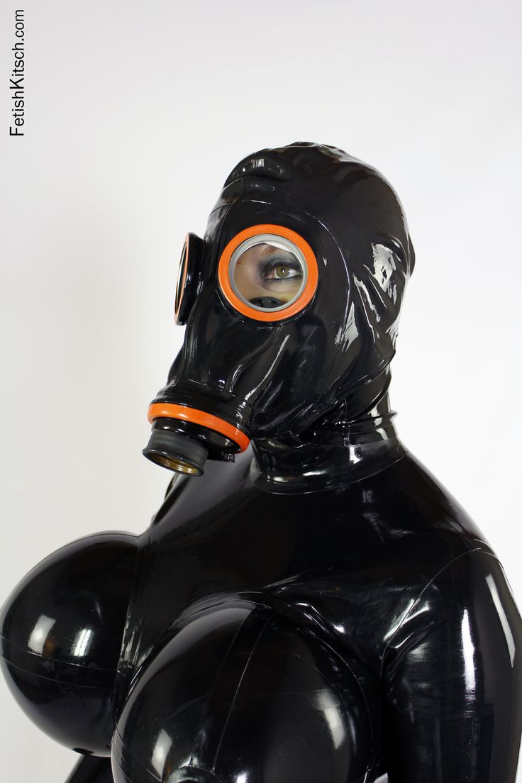 Attractively Latex fetish heavy rubber girl give