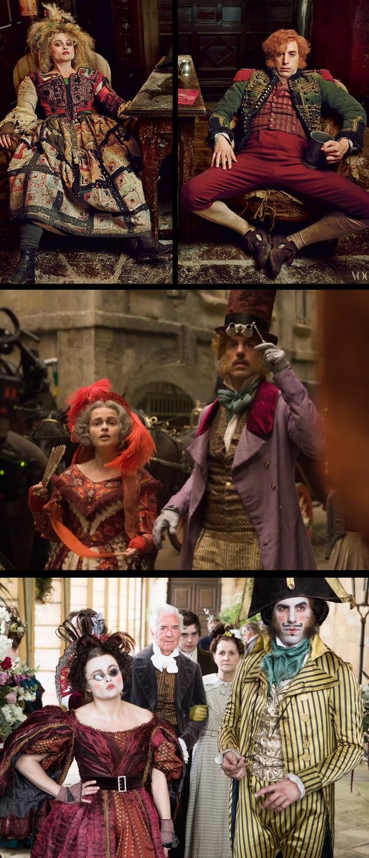 Helena Bonham Carter and Sacha Baron Cohen in 'Les Misérables' (2012) Paco Delgado