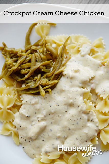 Housewife Eclectic: Crockpot Cream Cheese Chicken