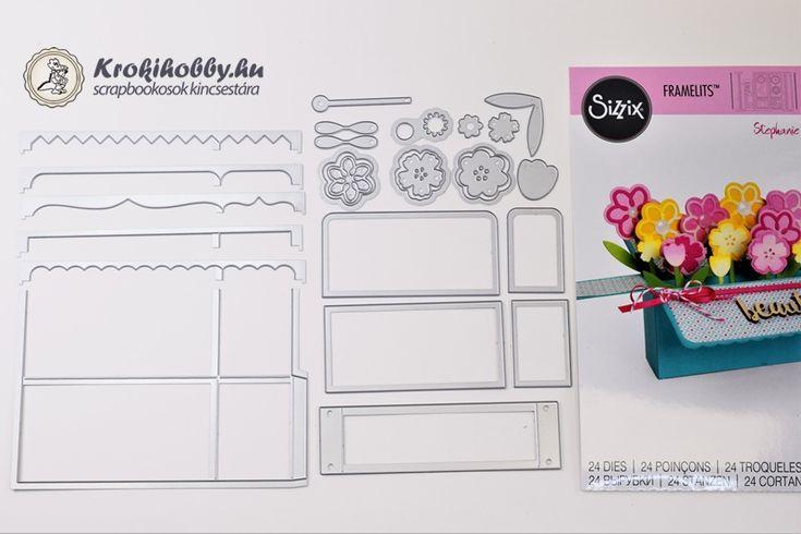 Stephanie Barnard tervezte, Sizzix Framelits - Box Card (661845) vágósablonjával, varázslatos 3D-s képeslapokat készíthetük névnapra - szülinapra....