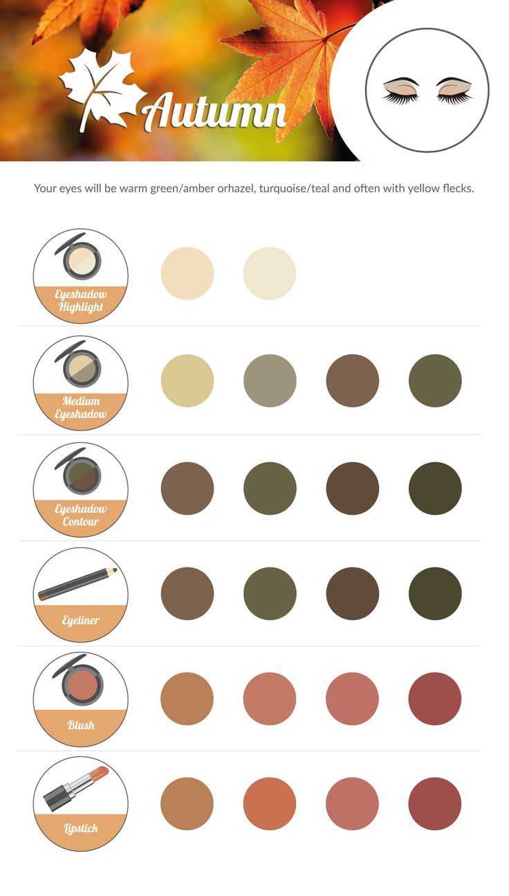 AUTUMN Make-up Colour Chart.