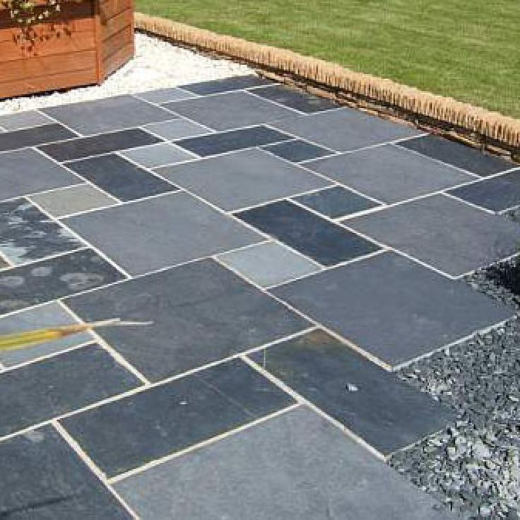 Bradstone, Natural Slate Paving Blue Black Patio Pack   10.20 M2 Per Pack |  Paving Ideas Front And Rear | Pinterest | Slate Paving, Slate And Patios