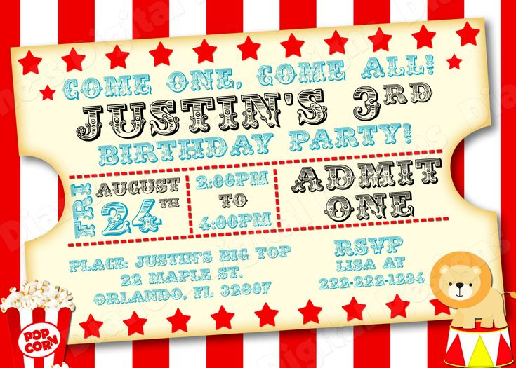 The 25+ best Circus birthday invitations ideas on Pinterest - circus party invitation