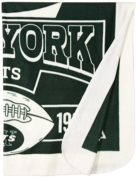 NFL New York Jets Marque Printed Fleece Throw, 50-inch-inch by 60