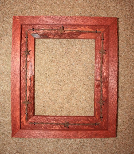 Picture Frame 8 X 10 Rustic Wood Barbed Wire Western