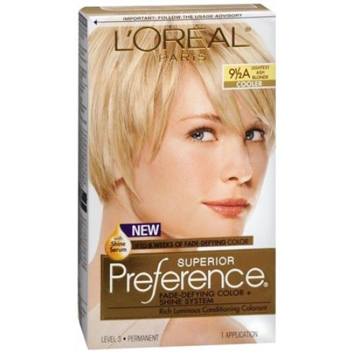 L'Oreal Paris Superior Preference Hair Color 9 1/2A Lightest Ash Blonde Loreal #LOreal