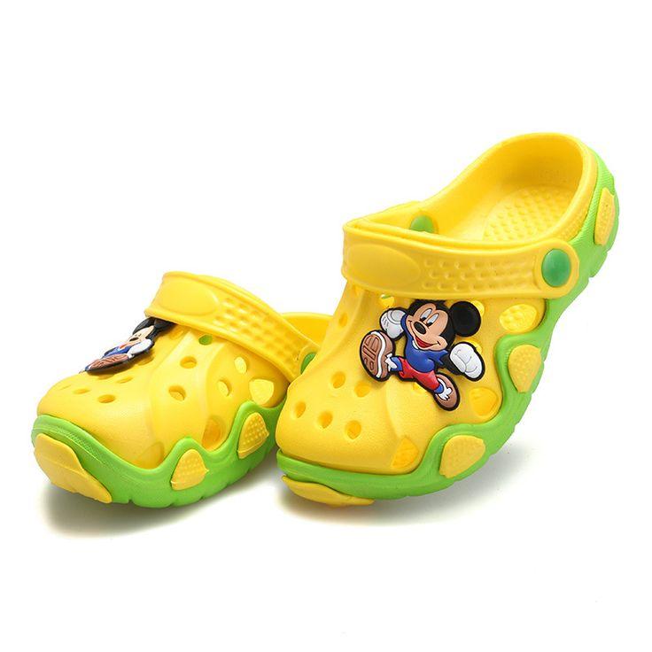 Anak-anak musim panas Sepatu Sepatu Anak Laki-laki Sandal Lucu Kartun Nyaman Mode Anak Sandal Anti-Slip Gadis Sandal Pantai Sepatu