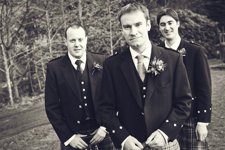 Groom and groomsmen in Kilts