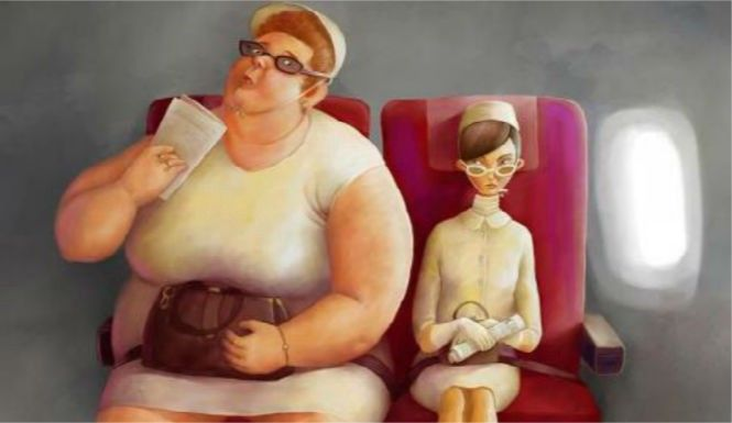 Fat people are depicted on planes all the time: loud, obnoxious, oblivious. It couldn't be further from my experience.