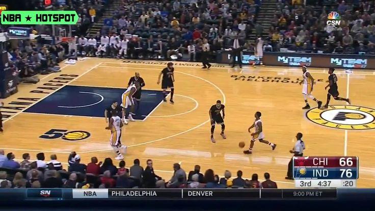 BULLS vs PACERS   Taj Gibson 1 Handed Put Back Slam DUNK  Dec 30   16 17 NBA Season