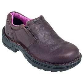 Wolverine Shoes: Women's Steel Toe 10192 EH Bailey Slip On Brown Shoes - Women's Steel Toe Work Shoes - Women's Steel Toe Shoes - Footwear