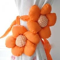 A Pair Pretty Sunflower Tieback Curtain Buckle-Orange