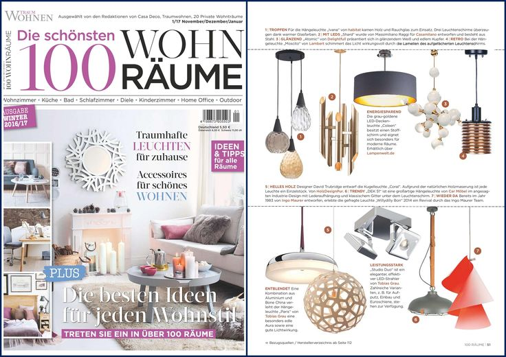 Thanks to TRAUMWOHNEN Redaktion for this amazing page dedicated to SHARD lamp by Massimiliano Raggi for Casamilano home collection.
