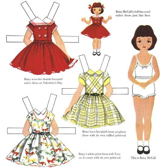 Memories of childhood filled with paperdolls and dreams, circa 1950.
