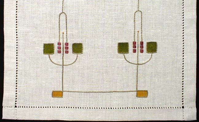 "Substitute for the Museum's Table Runner: Embroidery Kit: Jewel Table Scarf Kit, 20"" x 72"", $75.00"