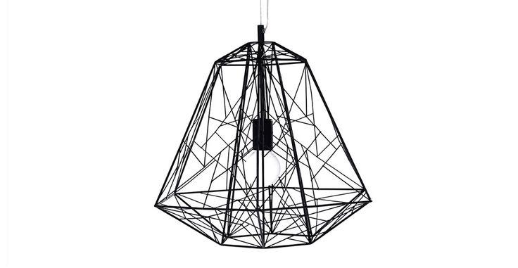 Hive - Lampada a sospensione nera di metallo ad alveare - di MADE.COM | made.com