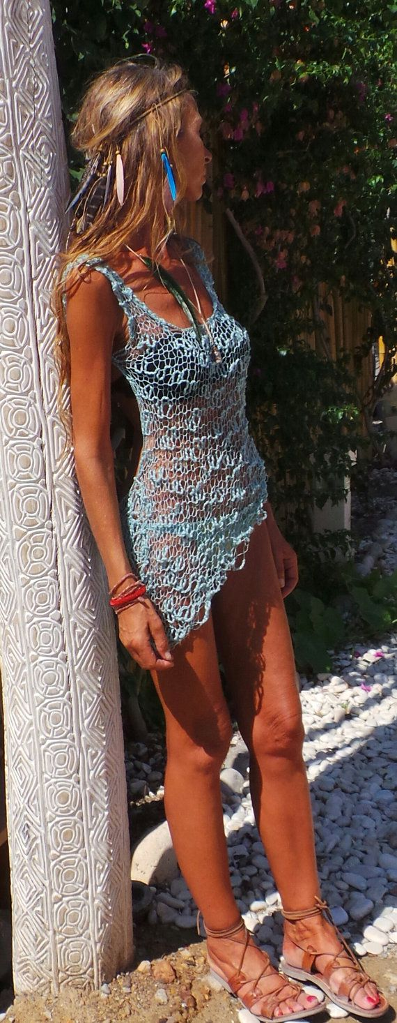 Turquoise  beach cover up beach dress turquoise dress
