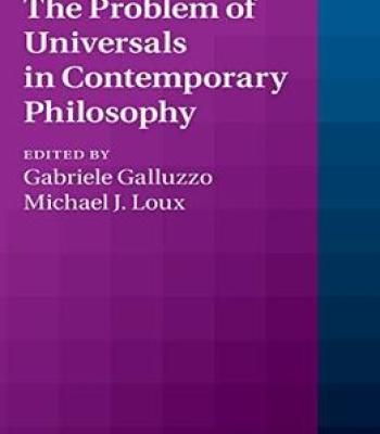 The Problem Of Universals In Contemporary Philosophy PDF