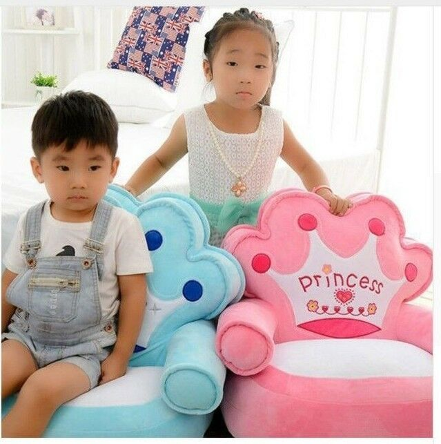 Toddler Baby Children Crown Sofa Chair Seat Plush Kindergarten Kids Birhday Gift Ebay Kids Seating Baby Bean Bag Baby Chair