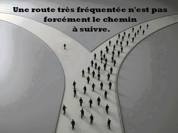 Une route très fréquentée n'est pas forcément le chemin à suivre...
