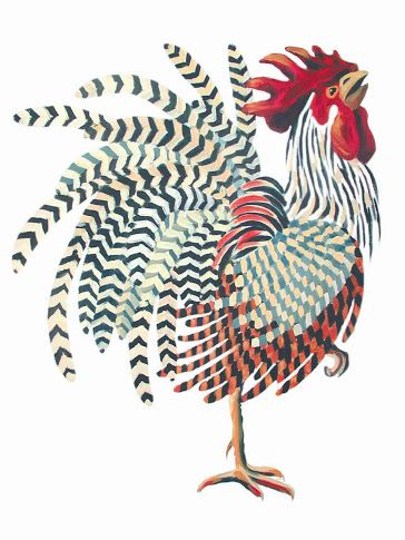 Strutting: Such attitude! Artist Jack Dickerson has really caught this rooster's personality!