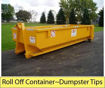 Roll Off Container~Dumpster Tips Looking to rent a roll off container for that messy cleanup at your Central NJ home? A lot of folks want to know the difference between a roll off container and a dumpster. In truth a roll off container is just another type of dumpster, but with different features. Read more about NJ Roll Off Containers at http://rgbdisposal.com/roll-off-containers-central-nj/