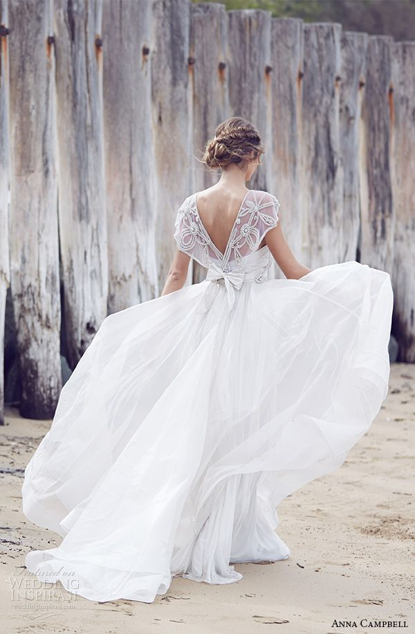 "Anna Campbell Wedding Dresses — Spirit Bridal Collection 2015 | Wedding Inspirasi | ""Adelaide""-- (Back View)~~~~"