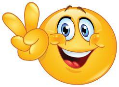 emoticon showin peace sign sticker