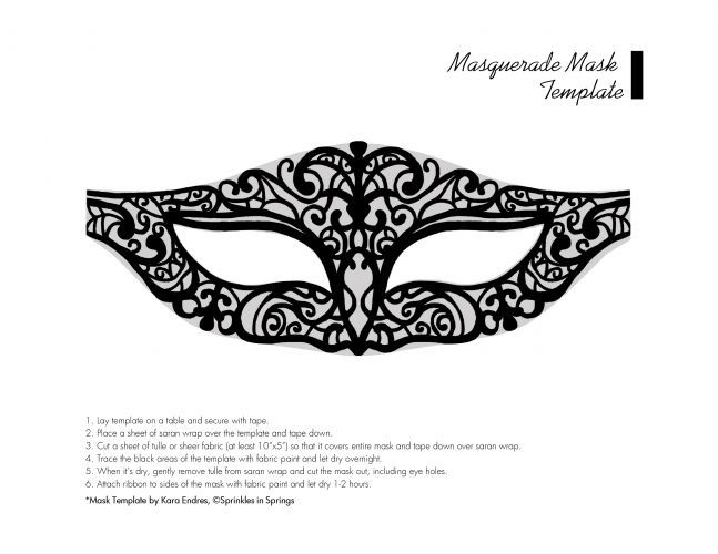 Superb image with printable masquerade mask templates