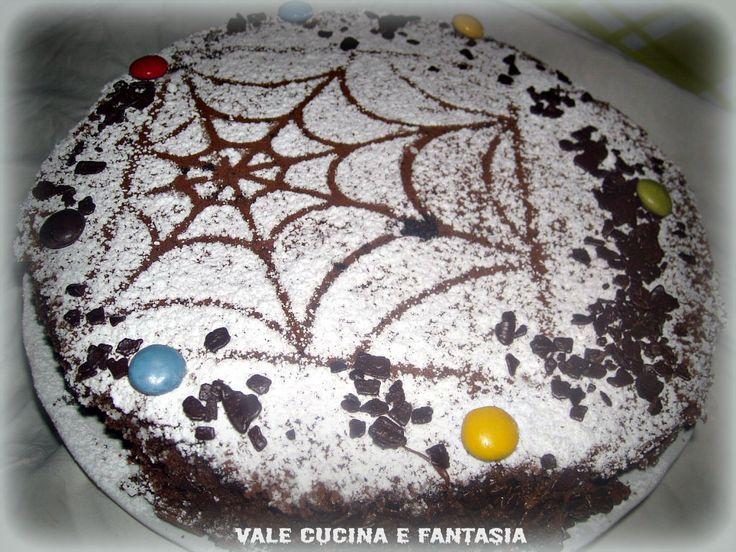 torta ragnatela al cacao e yogurt alla vaniglia ricetta per halloween