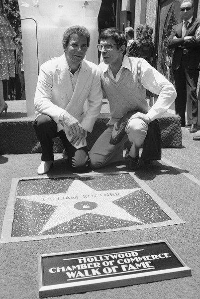 William Shatner and Leonard Nimoy on the Walk Of Fame, 1983